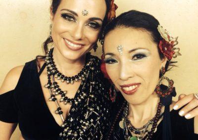 Devi and Satomi in Japan.