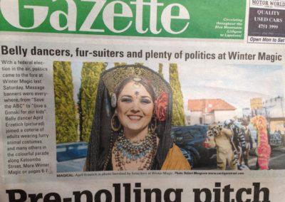 April in the Gazette. Photo: R. Musgrave