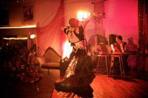Kristine dancing and Devi playing keyboardby AlexClarke